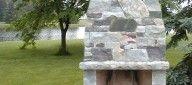 Outdoor Fireplace Kits - Modular Masonry Fireplace Kits - Outdoor Stone Fireplace Kits