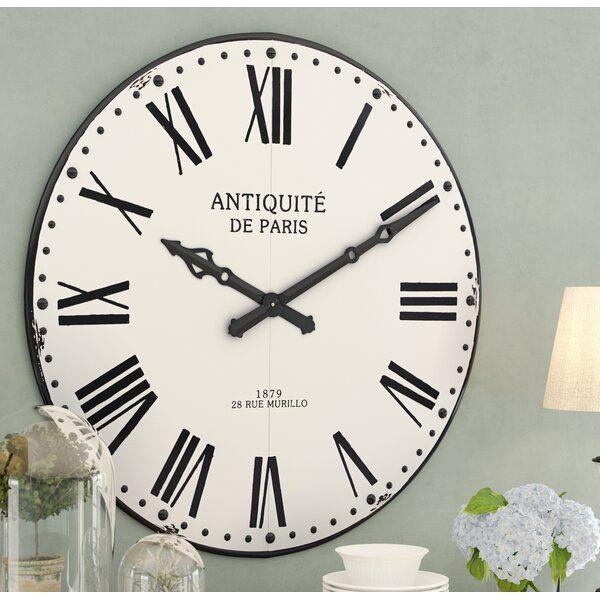 Oversized Adelina Round Wall Clock Oversized Wall Clock Wall Clock Clock Wall Decor