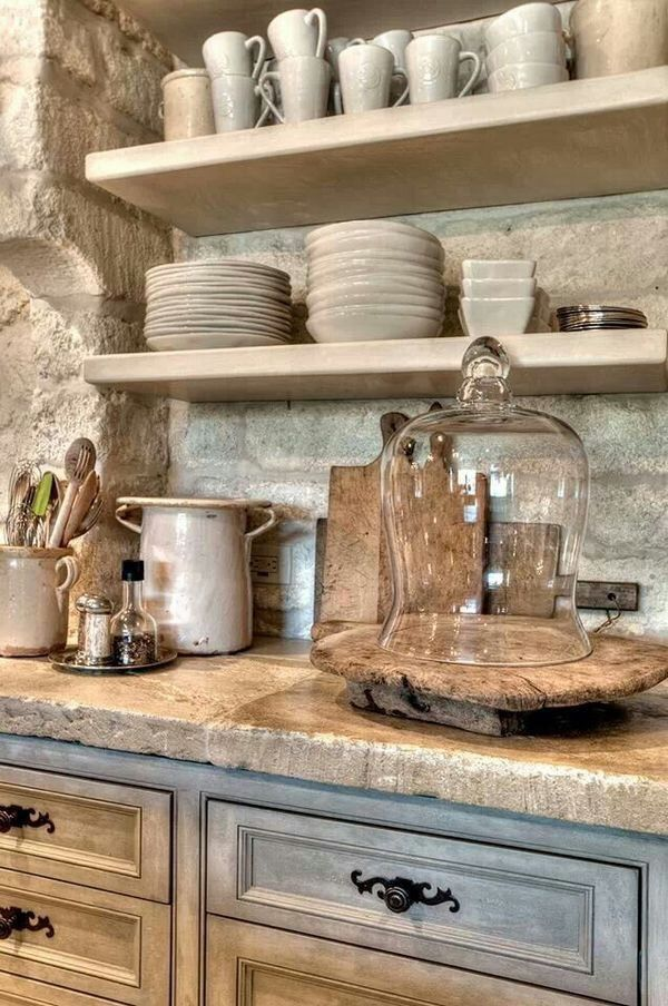 Open shelving  open pinterest shelving, countertops ...