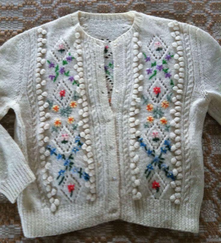 Tyrolean flower sweater