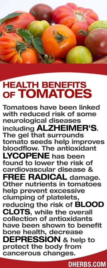 Tomatoes ~ health benefits