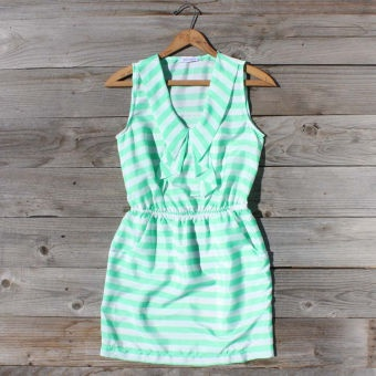 Seafoam Stripe Dress...