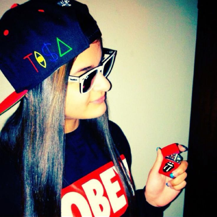 Girls Wearing Swag Hats Obey Hat Girl Hats Girl With