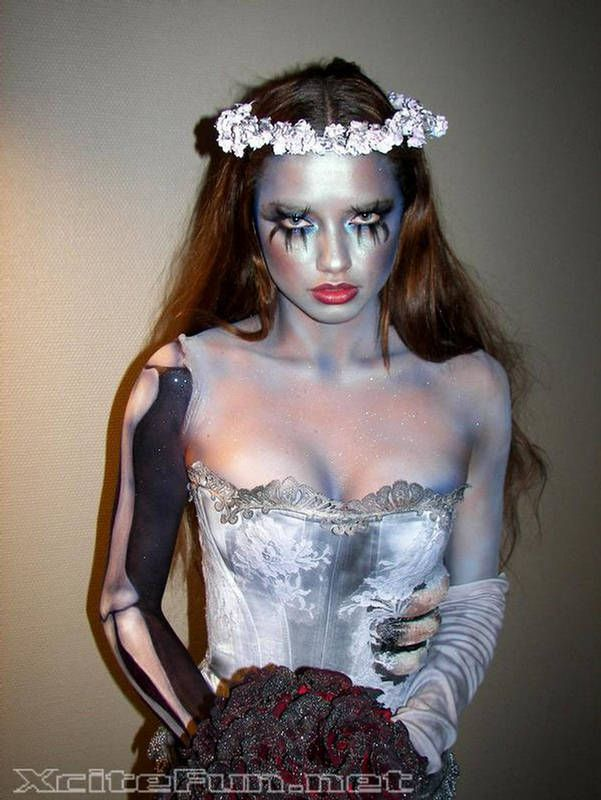 Adriana Lima Corpse Bride  Death Bridal Photo Shoot