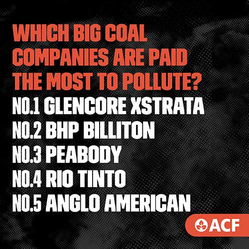These ten polluting giants are responsible for nearly a third of our nation's greenhouse pollution. And most of this pollution comes from how they produce and use energy, often with inefficient coal-fired power plants that are old rust buckets well past their use-by dates.