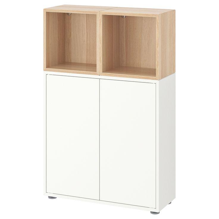 EKET Schrankkombination/Füße weiß, Eicheneff wlas   Ikea ...