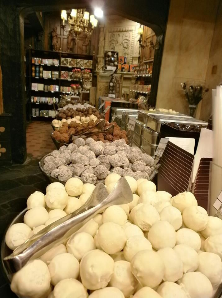 Chocolate shop in downtown Brussels