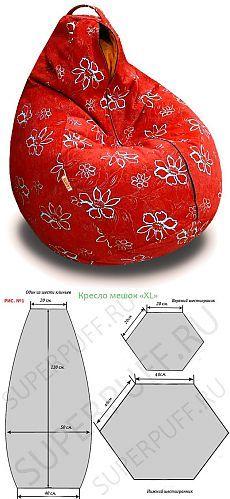 Como costurar uma cadeira do saco de?.
