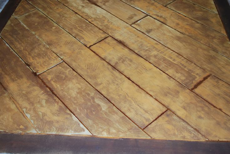 Wood Floor Stained Stamped Concrete Decorative Concrete