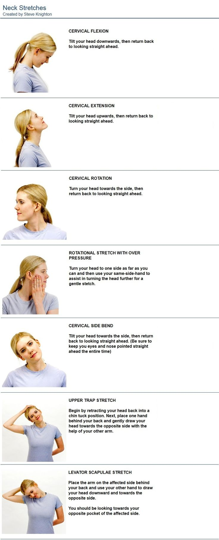 Stretches to relive a headache or migraine.