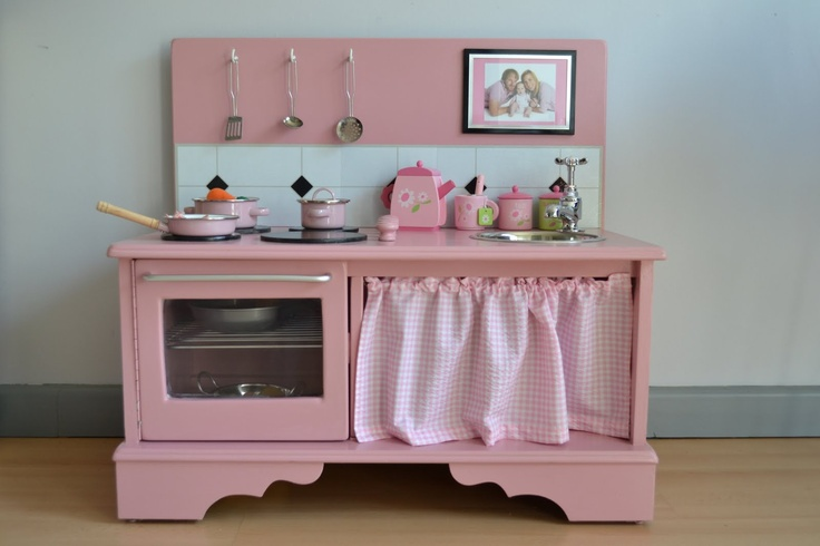 Kitchen made out of old dresser . . .awesome!