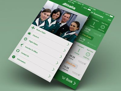 Dribbble - Alitalia Flight App redesign by Yasser Achachi