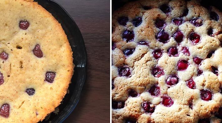 Low Carb Rezept für leckere glutenfreie Low-Carb Kirschkuchen. Wenig Kohlenhydrate und einfach zum Nachkochen. Super für Diät/zum Abnehmen.
