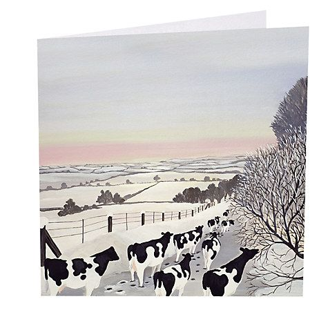 Buy Art Marketing Friesians In Winter Charity Christmas Cards, Pack of 6 Online at johnlewis.com