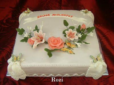 Rozi Erdélyi konyhája: Virágos torta szülinapra