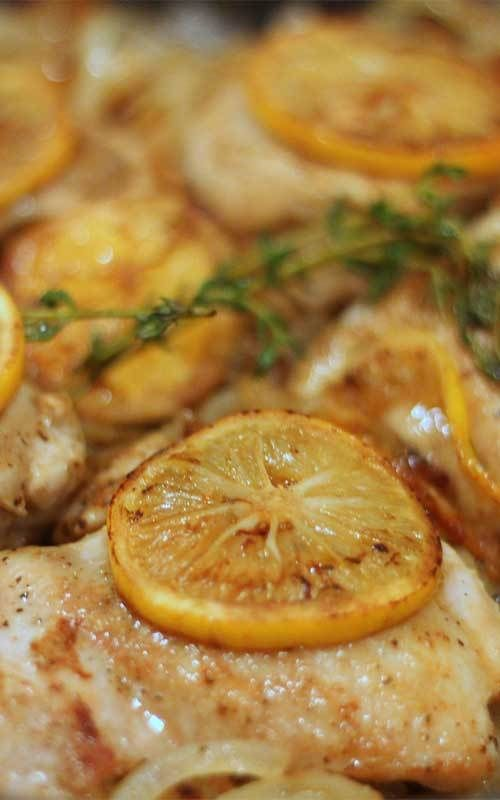 One Skillet Lemon Thyme Chicken Recipe -You'll be amazed at how quickly this recipe for Easy One Skillet Lemon Thyme Chicken comes together. Did I mention it's all done in one skillet? This easy to make and clean up, I am sure you you will fall in love.