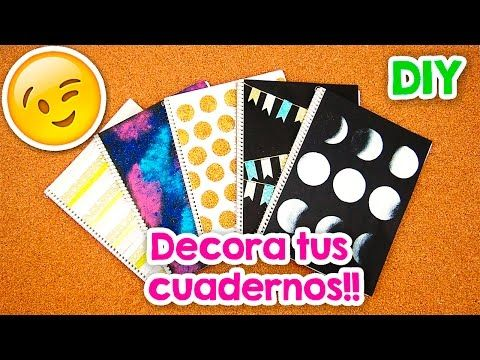 DIY: 14 ideas para decorar TUS CUADERNOS! | Nancy Loaiza - YouTube
