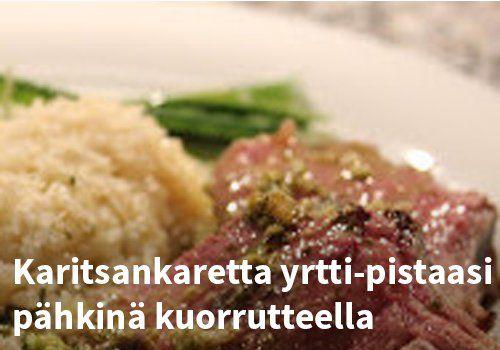 Karitsan karetta yrtti-pistaasipähkinä kuorruteella, Resepti: Viherpippurin kokkailuista #kauppahalli24 #pääsiäinen #karitsa #ruoka #resepti