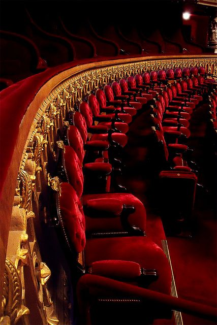 | ♕ |  The red seats of grandeur - Opera Garnier de Paris