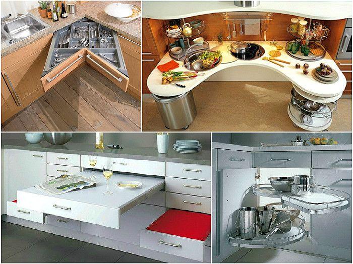 Дизайн маленькой кухни - расширение пространства