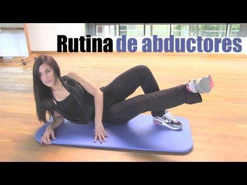 Rutina de ejercicios de abductores.