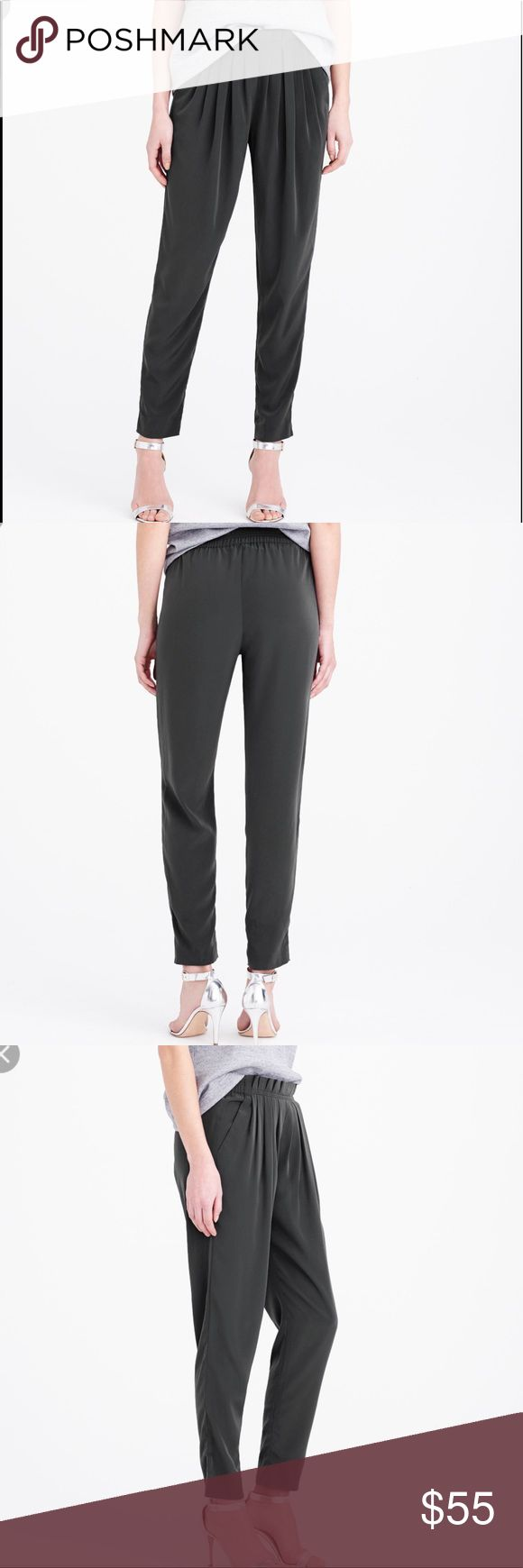 J Crew Pull On Pleated Pants Brand new. Gray color J. Crew Pants Trousers