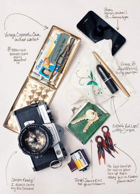 """""""There is something beautiful in the everyday life we decide to create for ourselves and the tools we carry tell a story about who we are. I'm glad to capture that simplicity."""" What is in Jamie Beck's Purse"""