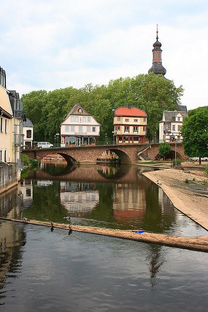 bridge houses in Bad Kreuznach, Rhineland-Palatinate, Germany