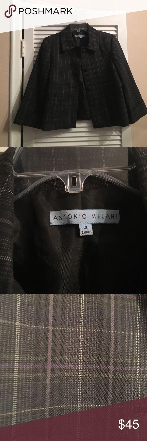 Antonio Melani black plaid blazer Antonio Melani black plaid size 4 blazer ANTONIO MELANI Jackets & Coats Blazers