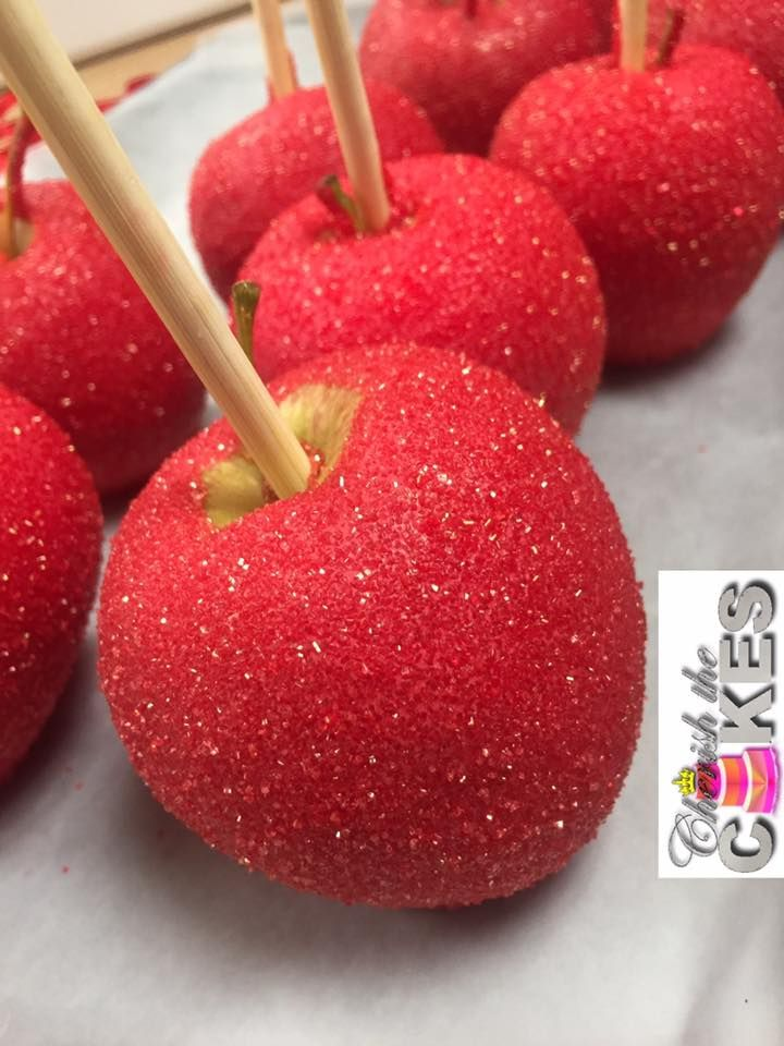 Red Glitter Candy Apples Apple Cake Pops Candy Apple Recipe Colored Candy Apples