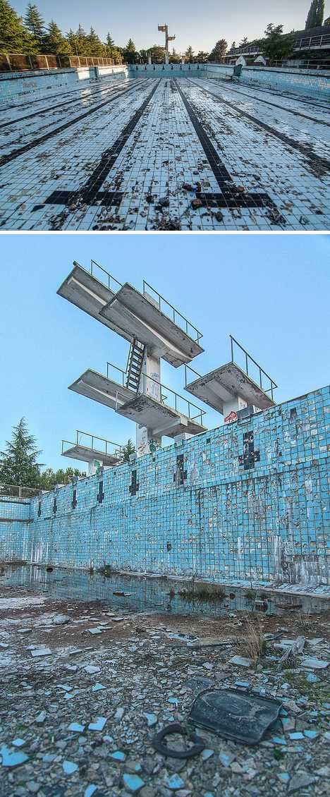 abandoned swimming pool Gurzuf Ukraine. This one gives me goose bumps!!!