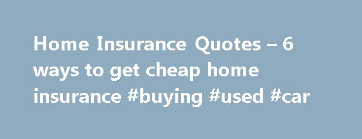 25+ Best Home Insurance Quotes On Pinterest