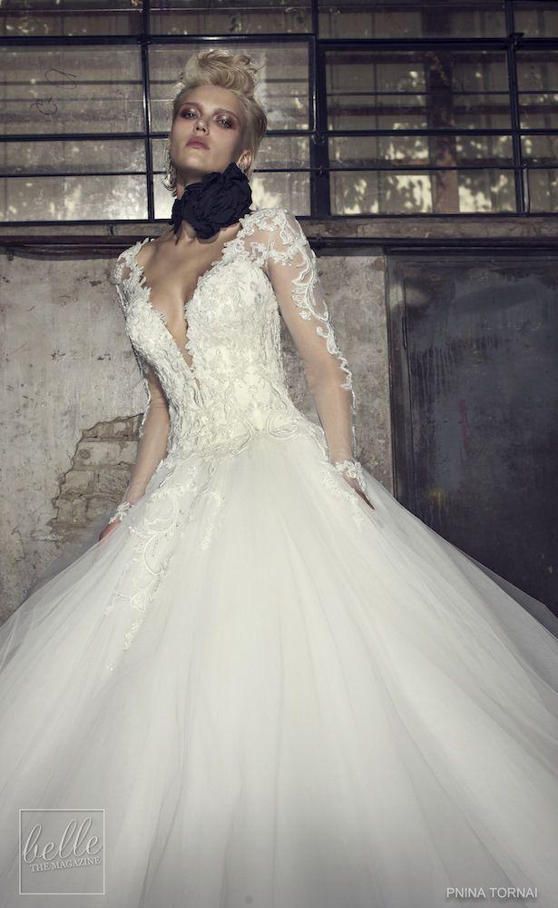 032a9191042d Pnina Tornai for Kleinfeld 2019   Wedding dresses   Sheer wedding ...