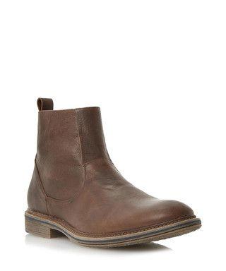 Climber tan leather Chelsea boots Sale - Dune Sale