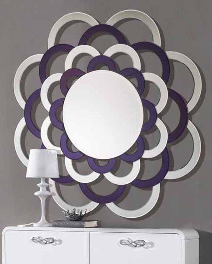 Espejos Originales de cristal LETONIA Morado. Decoracion Beltran, tu tienda online en espejos de cristal. www.decoracionbeltran.com