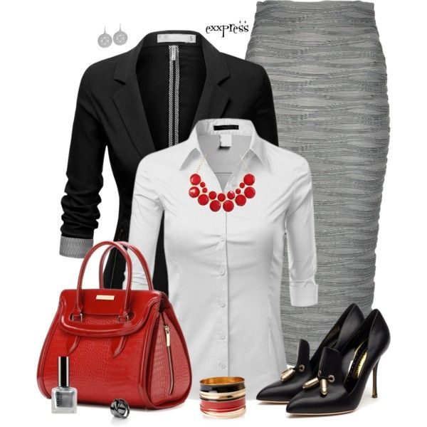 """Wave Pencil Skirt"" by exxpress on Polyvore"