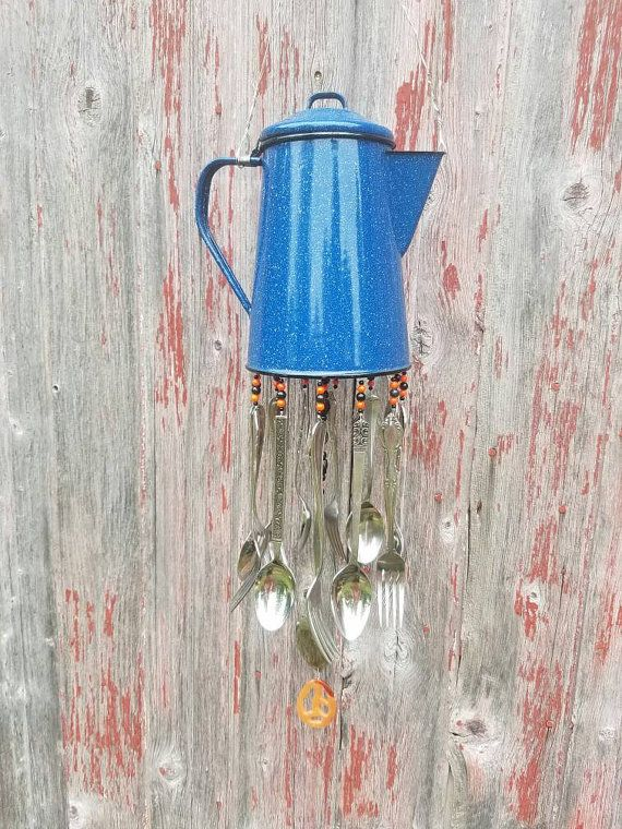 Silverware Winchime Repurposed Silverware Chime Porch Decor House Warming Gift Lake House Hospitality Gift