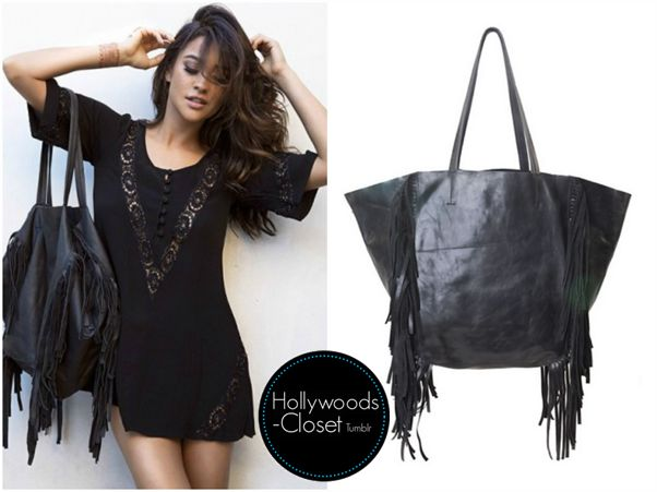Shay Mitchell | Blog Post Shay snapped this picture for her blog recently. Shay wore a Hendrix Fringe Tote. You can purchase this from Cleobella for $398.00 Buy this here