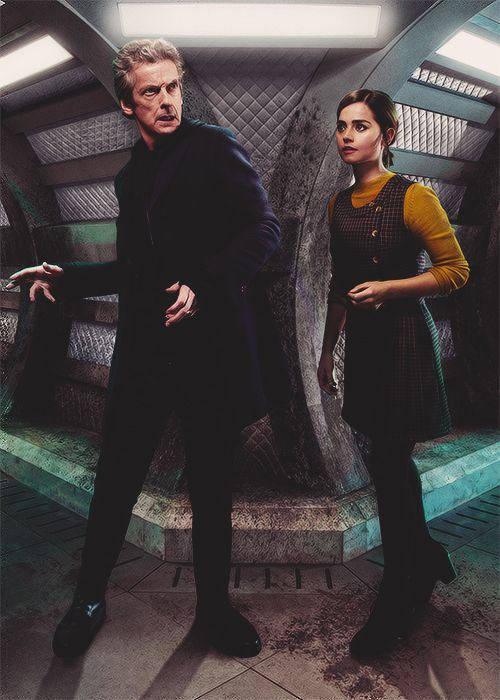 The Doctor and Clara Oswald in Under the Lake