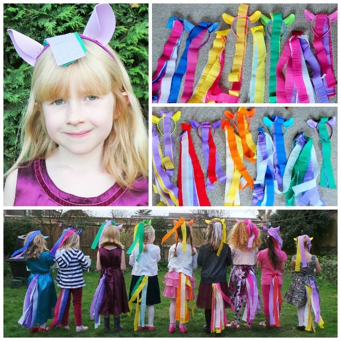 Make Your Own My Little Pony Mane and Tail Costumes at Jennifer Grace Creates