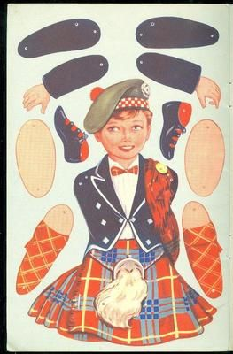 The Puppet Dancing Doll Story Book w 4 Uncut Dolls Brin Bros Ltd | eBay