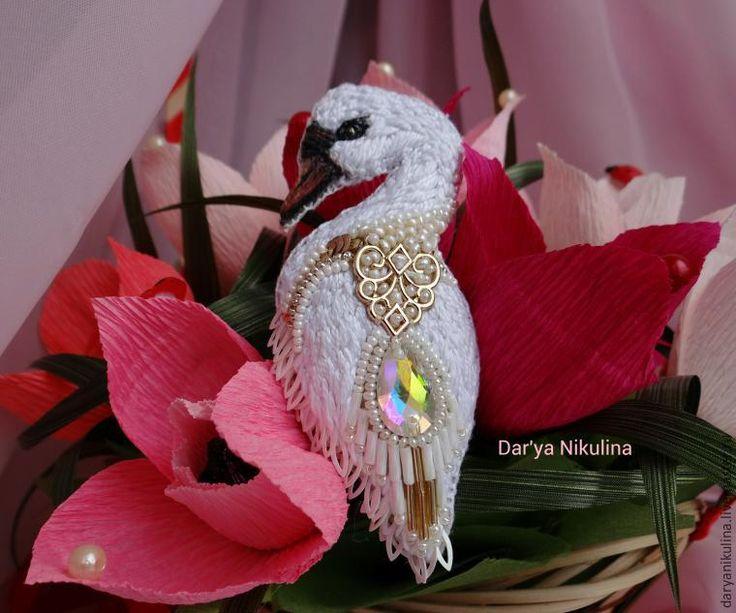 Создаем шикарную брошь «Лебедь» - Ярмарка Мастеров - ручная работа, handmade