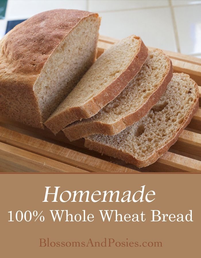 Make 100% whole wheat bread that is light and fluffy! Great for sandwiches. From blossomsandposies.com