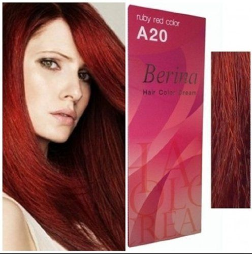 Berina Permanent Hair Dye a 20 (Ruby Red) Color Collection Thai 1Pack -- Click image to review more details. (This is an Amazon affiliate link)