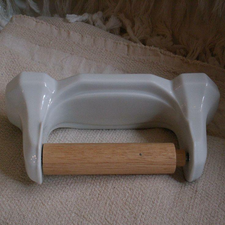Toiletrolhouder van porselein in art deco stijl porcelain toilet roll holder in art deco style - Stijl van toilet ...