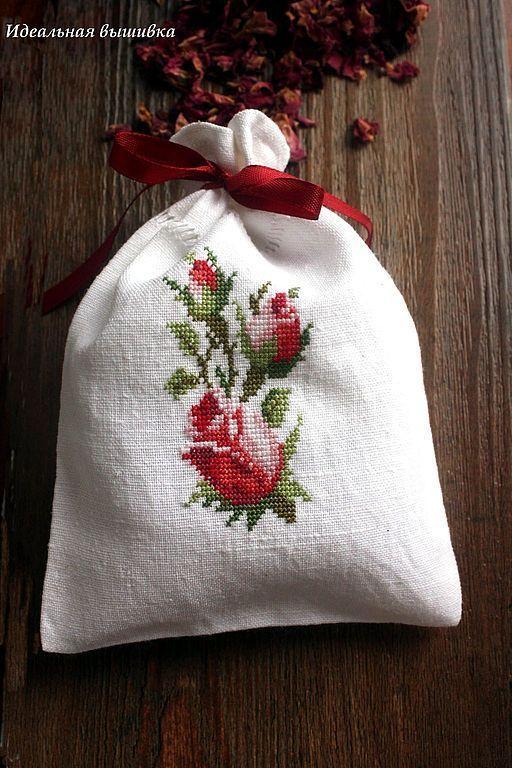 """Купить Льняной ароматический мешочек """"Лепестки"""" - лаванда, мешочек с лавандой, ароматическое саше, прованс"""