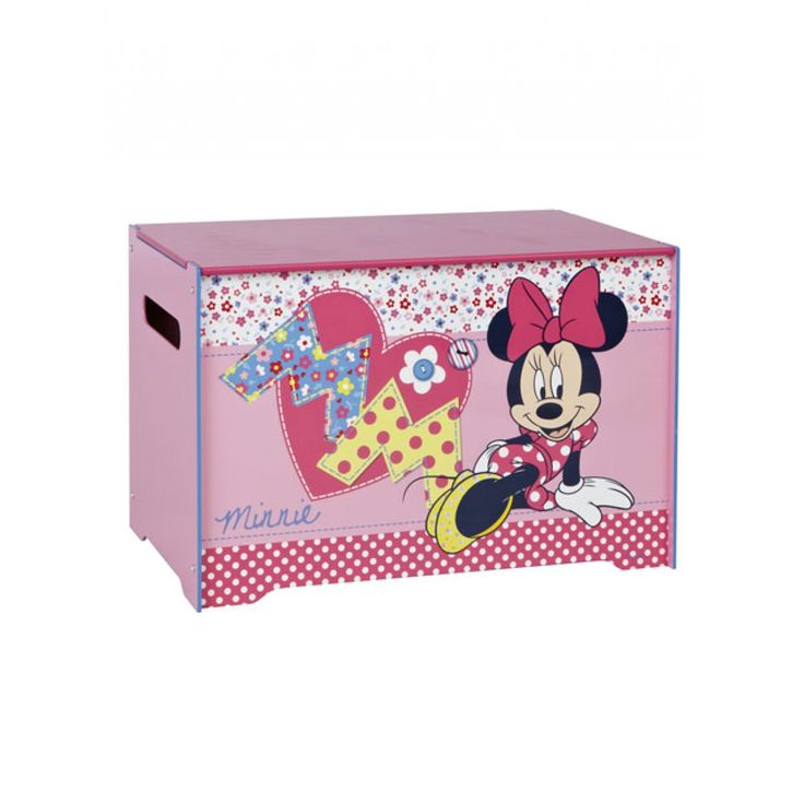 This Minnie Mouse Toy Box Is A Great Storage Solution For Bedrooms And Playrooms Alike