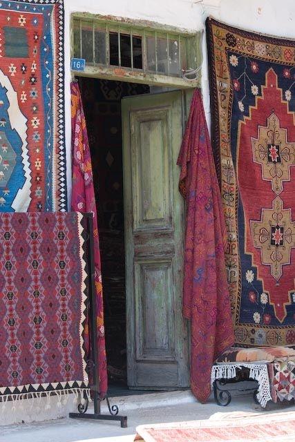 Local carpet shop, Kas, Turkey
