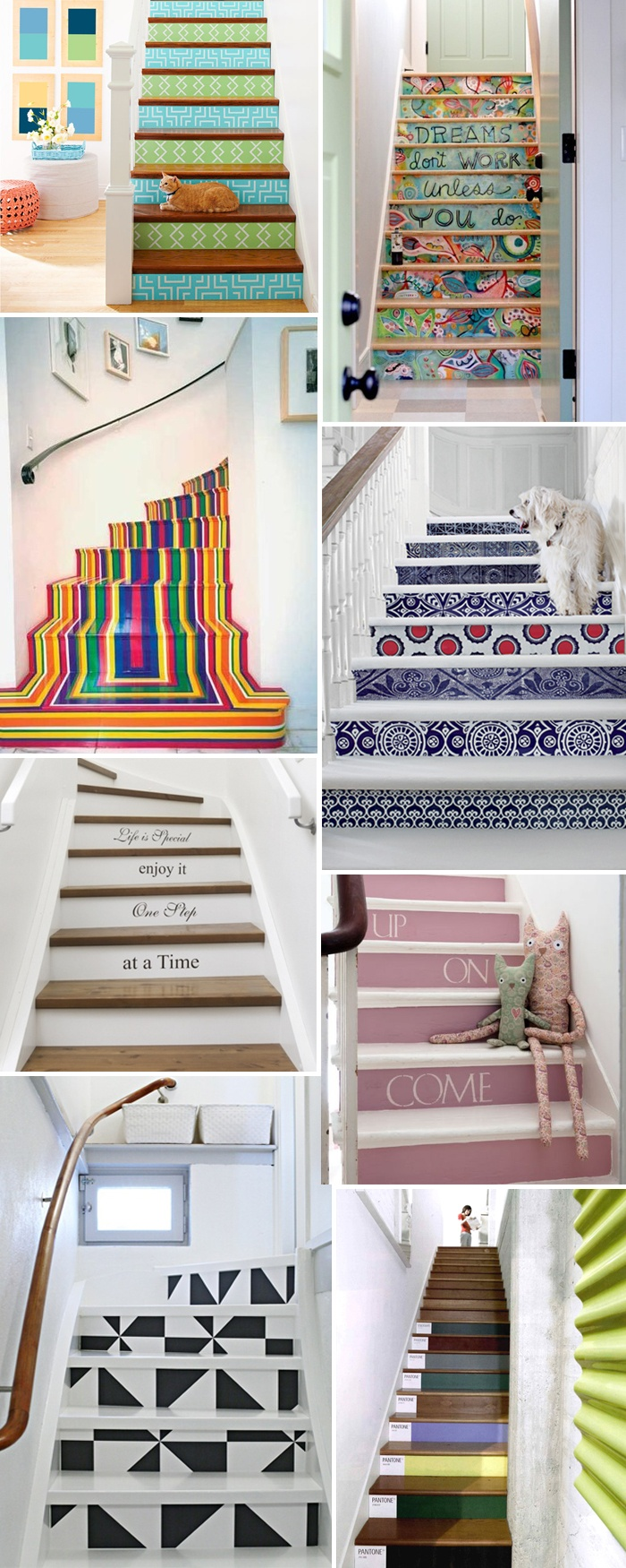 Ideias DIY para personalizar as escadas.