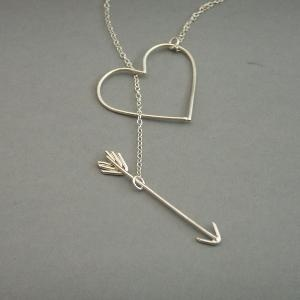 Like it: Silver Necklaces, Diy Ideas, Fashion, Valentine Day Gift, Heart Jewelry, Heart Necklaces, My Heart, Accessories, Arrows Necklaces